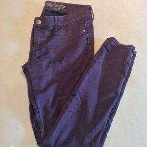 Purple Jean legging regular fit low rise size US 8